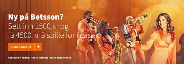 Betsson free spins og casino bonus