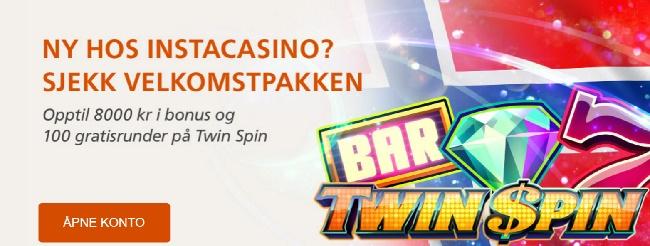 Instacasino free spins og casino bonus